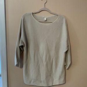 HM basic knit sweater in white size M